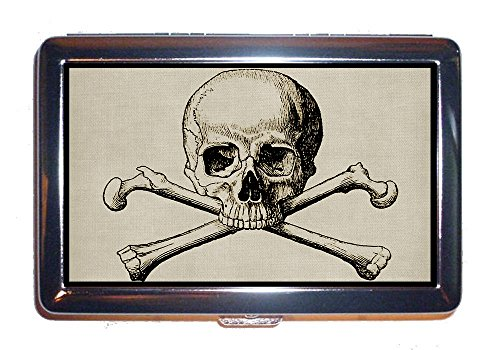Schädel - Knochen gekreuzt zigarettenschachtel Steampunk Knochen Knochen seltsam (Zigaretten) - Kostüme Seltsame