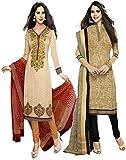 JAVULI Womens Cotton Unstitched Salwar S...