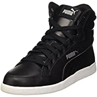 Puma Women's Puma Ikaz Mid Classic Black and Puma Silver Sneakers - 4 UK/India (37 EU)