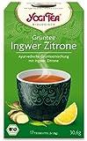 Yogi Tee Grüntee Ingwer Zitrone, 17 Teebeutel, 30,6g, BIO