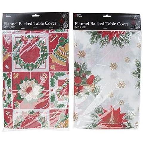 Funda para mesa con base de franela de Navidad Prints Mantel de tela impermeable y varios colores