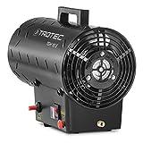 TROTEC 1420000010 Gasheizgebläse TGH 10 E Gas Heizgerät inkl. Verbindungschlauch und Druckminderer (Heizleistung bis 10 kW, 320 m³/h Luftdurchsatz, für handelsübliche Gasflaschen, Piezozündung) - 4