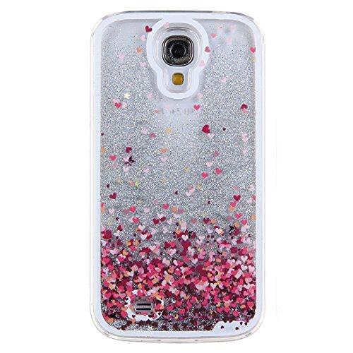Galleria fotografica TOOGOO(R) Custodia Rigida Samsung Galaxy S4, Liquid Case 3D Flowing della caso della cassa chiaro liquido scintillio di stelle argento plastica per Samsung Galaxy S4(Amare)