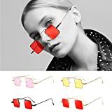 Clearance Sale!OverDose Ins Hot Women Men Square-shaped Shades Sunglasses Integrated UV Candy Colored Glasses(#5)