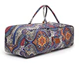 Elenture, borsa per tappeti da yoga, borsone in tela durevole e morbida, borsa larga, per tappetino da yoga, blocchi da yoga, asciugamano da yoga e altri accessori. Ca. 70 cm, Celestial
