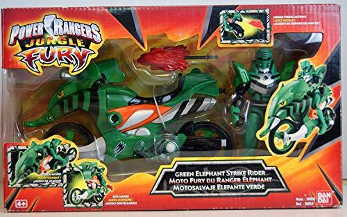 Power Rangers - Jungle Fury - 30053 - Green Elephant Strike Rider - with Green Ranger