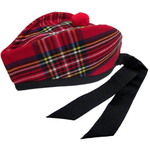 Tartanista - Herren Glengarry-Mütze - ideal für Kilts - mit schottischem oder...