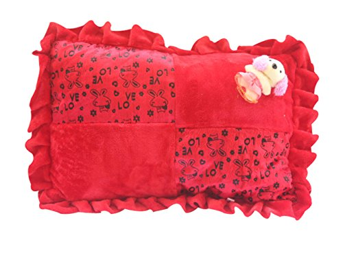 Safe n Cute Baby Rectangular Pillow in Velvet (Red)- Trusted High Brand...