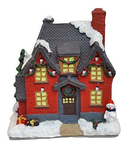 LED beleuchtet Weihnachts Winter Deko Haus Dorf Kirche ()