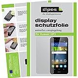 dipos I 2X Schutzfolie matt passend für Huawei GR3 Folie Displayschutzfolie