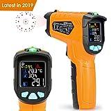Infrarot Thermometer AD70 IR Laser Digital Thermometer -50°C bis 800°C kontaktfreies mit Farbe lcd 12-Punkte-Laserkreis Farbbildschirm Alarmfunktion bei Über/Unterschreitung der Temperatur