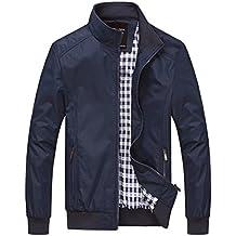 bingka para hombre Casual Exterior Ropa De Deporte Ligero Bomber Chaquetas y abrigos Plus Size