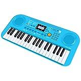 Shayson Pianoforte per Bambini, 37 Tasti per Pianoforte elettronico a Tastiera Multi-Funzione di visualizzazione con Schermo LCD Giocattolo educativo per Bambini Piccoli Bambini (Blu)