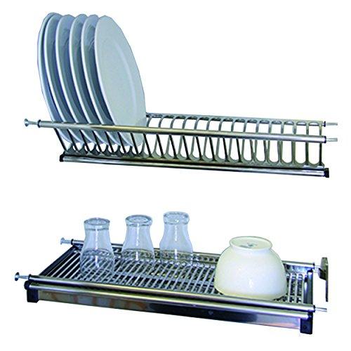 Protenrop Q1870 - Kit de escurreplatos/vasos de acero inoxidable