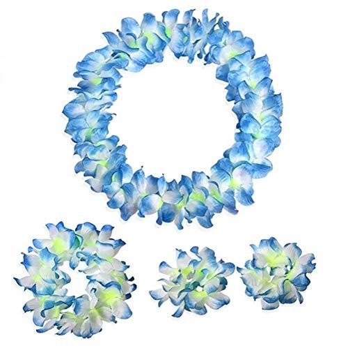 NFACE Hawaiian Luau Flower Leis Jumbo Collar Pulseras