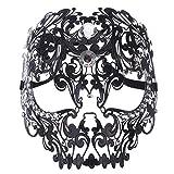 RXBC2011 Venezianische Maske Totenkopf Metall Maskenball Masken Venedig Maskerade Maske Damen Herren