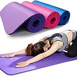 ZXCV Tappetino Yoga Antiscivolo Fitness Gym Stuoie Sportive Pilates Cuscinetti per Esercizi Fitness Pilates Tappetino per Ginnastica,Viola