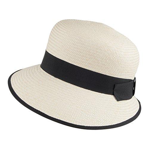 Chapeau d'Eté Panama Esther naturel-noir OLNEY Naturel et Noir