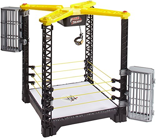 WWE FFH41 Tough Talkers Championship Takedown Ring Spielset (Wwe Superstar Entrances Mattel)
