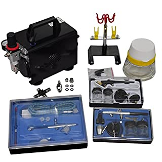 VidaXL 140286 New Woman bust professional airbrush compressor set with 3 airbrush pistols