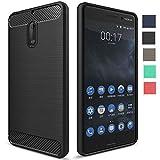 Nokia 6 Back Cover Case [Chevron Official], Heavy Duty Shock Proof TPU Case for Nokia 6 Mobile Premium Protection, Metallic Black by Chevron