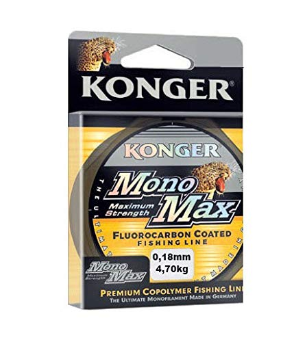 Konger Angelschnur MONOMAX FLUOROCARBON Coated 0,12mm-0,50mm/150m Spule Monofile (0,18mm / 4,70kg)