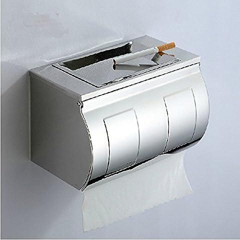 HanMei carta igienica in acciaio INOX per WC, Carta impermeabile, Extra lunga Paper Towel Rack