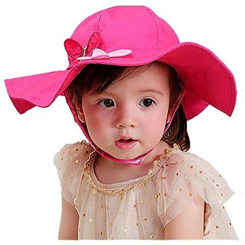 GenialES Bambina Farfalla Cappello Pesca Cappello Tesa Larga Cap adatto