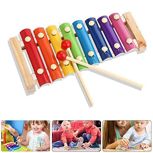 YFOX Strumenti Musicali per Bambini Strumenti a percussione Piccoli Musicisti Strumenti Musicali in Metallo e Legno atossici e innocui