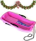Turbo Slign Schlitten mit Bremsen✅⭐⭐⭐⭐⭐✅ Kunststoff-rodel für Kinder/Kleinkinder/Erwachsene hochwertige Qualität (pink)