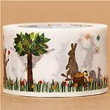 Nastro adesivo decorativo largo Washi conigli scoiattoli mt