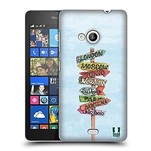 Head Case Designs Carrefour Nomade Étui Coque D'Arrière Rigide Pour Microsoft Lumia 535 / Dual SIM