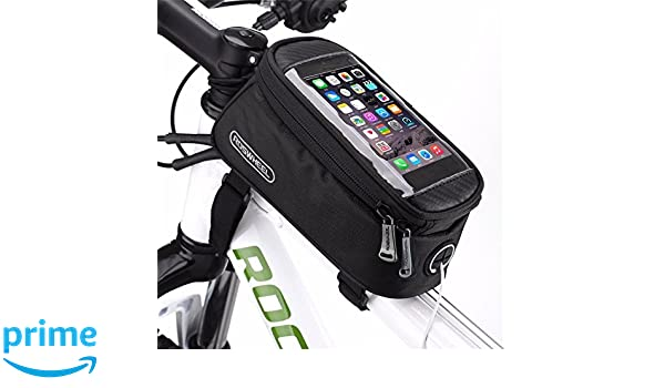 Fits ALL Bikes The Original BTR Bicycle Frame Bike Bag /& Mobile Phone Holder GEN1 with Option to add Waterproof Cover To Protect ALL Your Valuables From The Rain