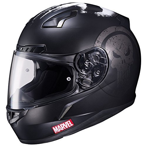 Preisvergleich Produktbild HJC CL-17 Motorcycle Helmet Marvel Series The Punisher Black Large by HJC Helmets