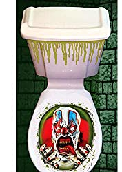 Halloween Toilet Seat Lid & Cistern Cover Scary Clown Party Decoration