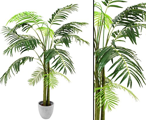 Areca Palme, Kunstpalme mit 13 Textil Blätter, mit Topf, Höhe 210cm – künstliche Palme Dekopalme
