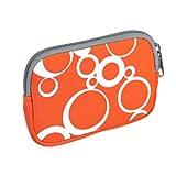 vyvy mobile® stylische Neopren Universal Kameratasche für Kompaktkameras CIRCLES Orange