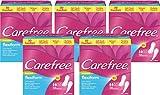 Carefree classic flexiform mit Frischeduft – Flexible, luftdurchlässige Slipeinlage mit Duft – Für Slips und Tangas geeignet – 5 x 56er Pack