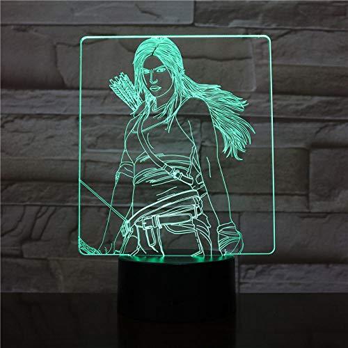 3D Nachtlicht 3D LED Nachtlicht Jungen Kind Kinder Baby Geschenke dekorative Lichter The Hunger Games Table Lamp Bedside (Hunger Games Dekorationen)