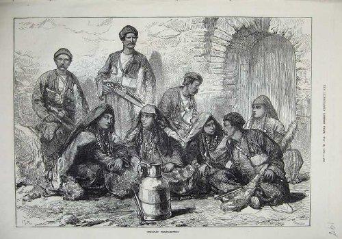 1873 Georgische Bergsteiger-Mann-Kostüm-Waffen-Schöne Kunst