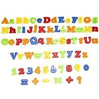 Magnetic Capital & Minúsculas 78Pcs Letras del Alfabeto números Juguete con Tarro CJ432
