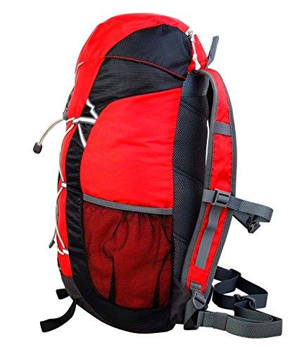 Terra Peak Rucksack Fusion, 40 x 30 x 10 cm, 26 Liter Red/Grey