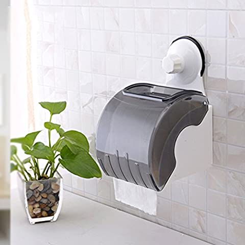 Chuck Waterproof Roll Holder _ Double Roll Stand Strong Suction Waterproof Toilet Paper Holder