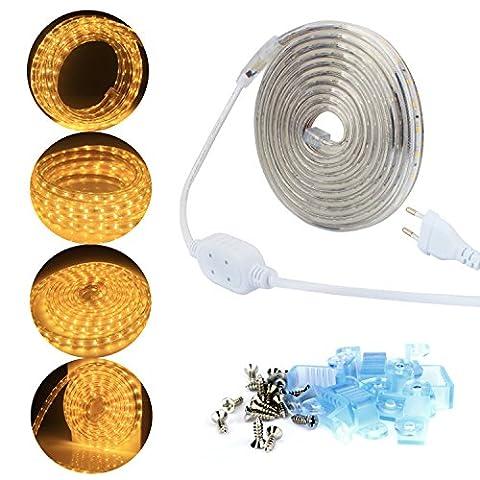 ALED LIGHT® 2835 LED Strip Leiste LED Streifen LED Band , Wasserdicht ,220V, Ideal für Garten, Haushalt, Küche, unter Kabinett, Auto, Bar, Mond, DIY Verzierung Lighting [Energieklasse A++]