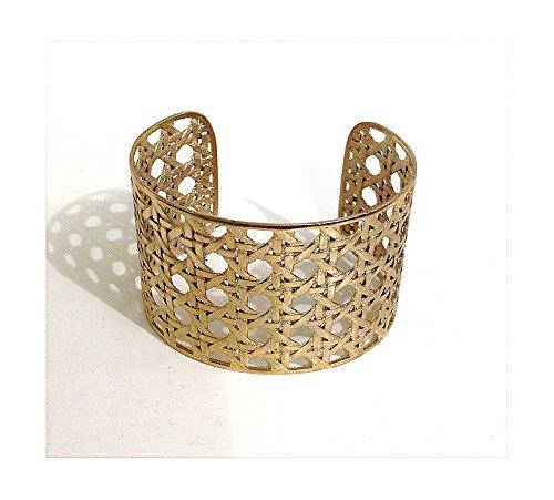 Bracelet en bronze satiné | mouillé en or ou antique | Matex 1 Bagnato in Oro - H 4,5