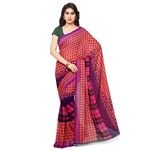 Kashvi Sarees Bhagalpuri Silk Pink & Multi Color Printed Saree With Blouse Piece ( SSC061_1 )  available at amazon for Rs.249