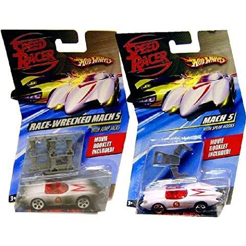 Hot Wheels Speed Racer Mach 5 Car and Race-Wrecked Set by Mattel