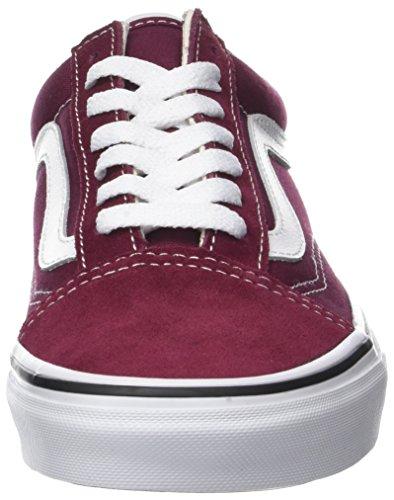 Vans Old Skool Suede/Canvas, Sneaker Donna Rosso (Burgundy/true White)