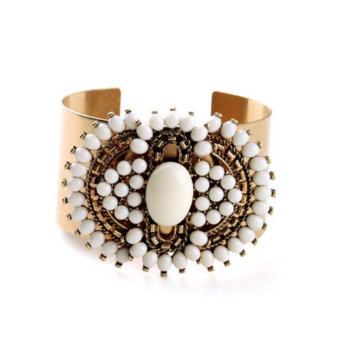 Peora Party Wear Gold Alloy Round Barcelet For Women And Girls