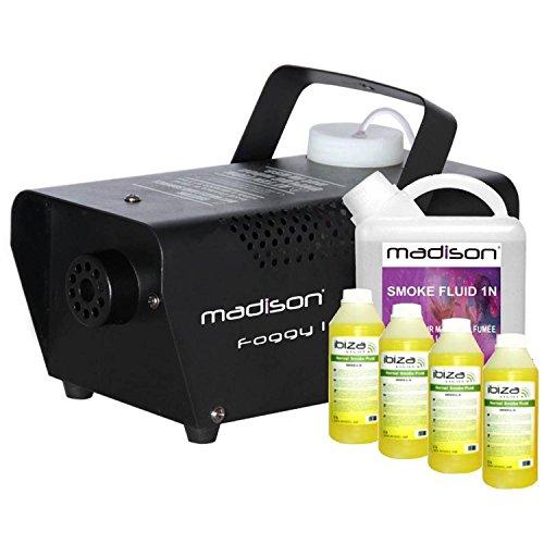 Nebelmaschine 400W mit 5Liter Flüssigkeit Hat Rauchmelder Madison foggy-1 (Madison 1)